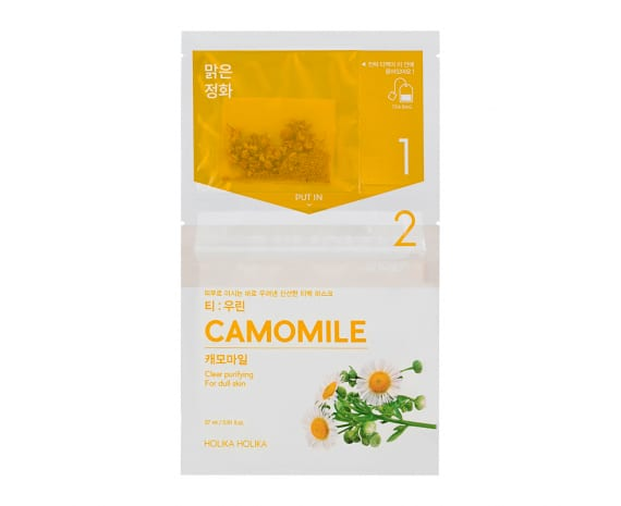 Instantly Brewing Tea Bag Mask - Camomile