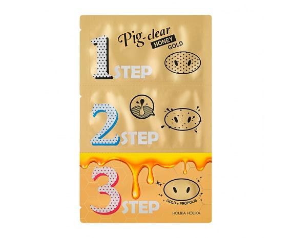 Pig Nose Clear Black Head 3-Step Kit (Honey Gold)